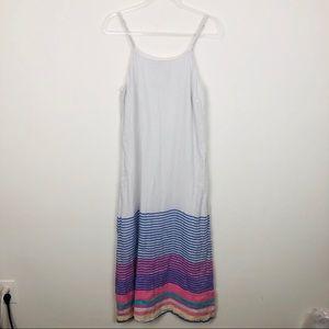 C&C California Striped Linen Maxi Dress Size Small